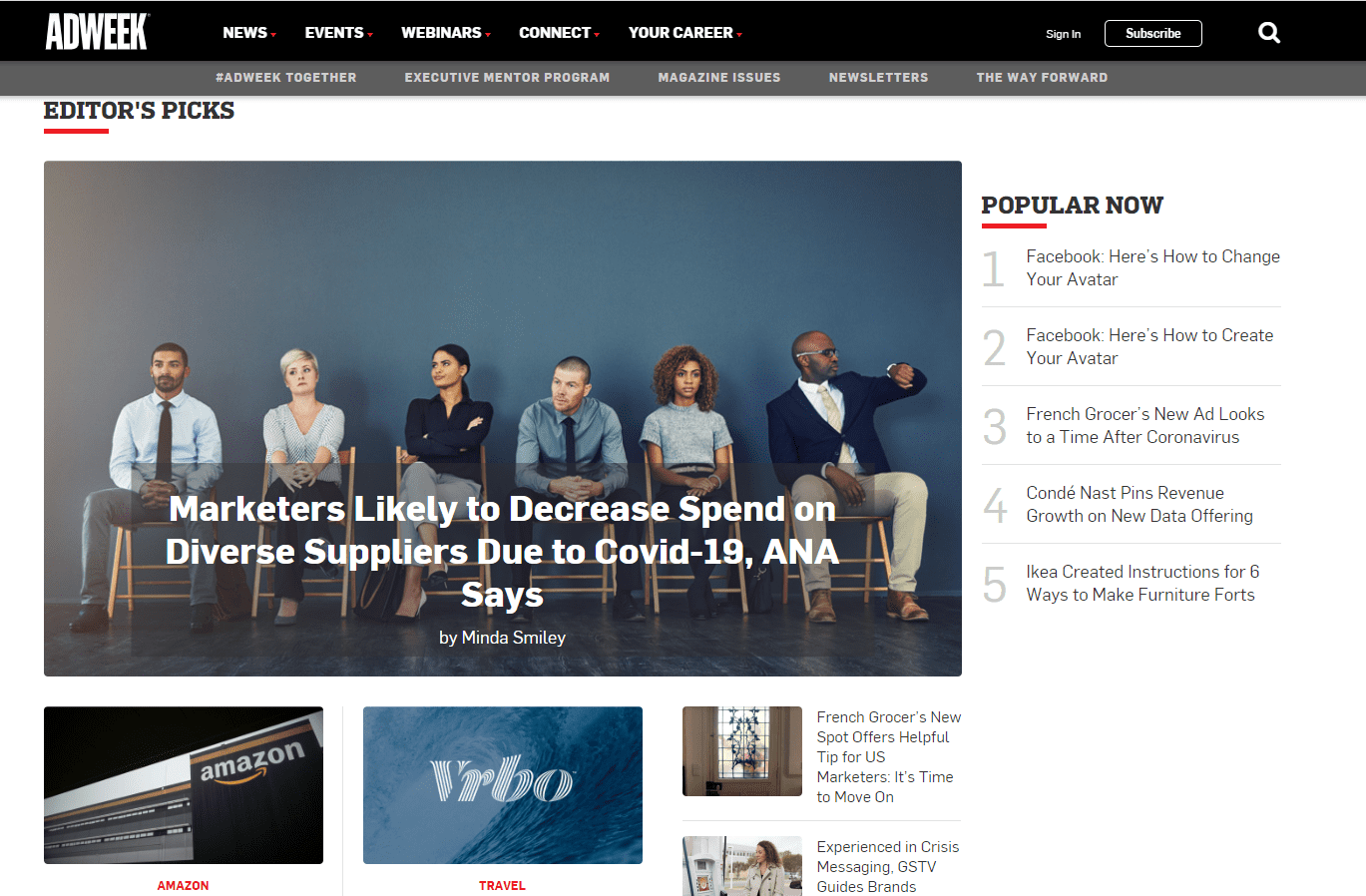 AdWeek Home Page