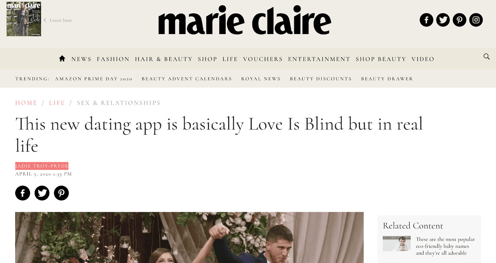 Blindlee Feature on Maire Claire