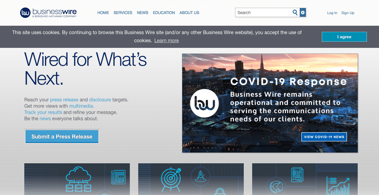 Business Wire Home Page