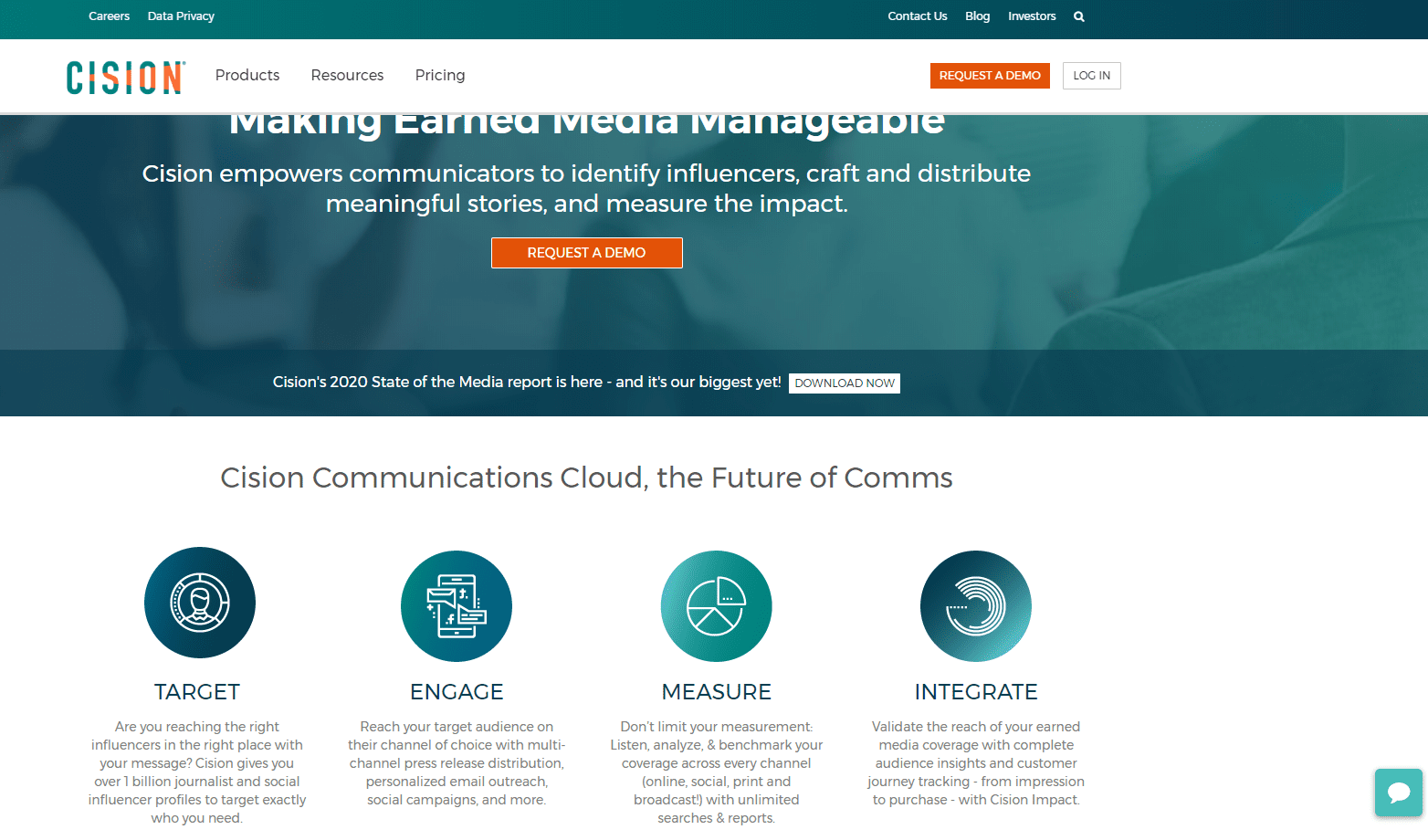 Cision Home Page 1