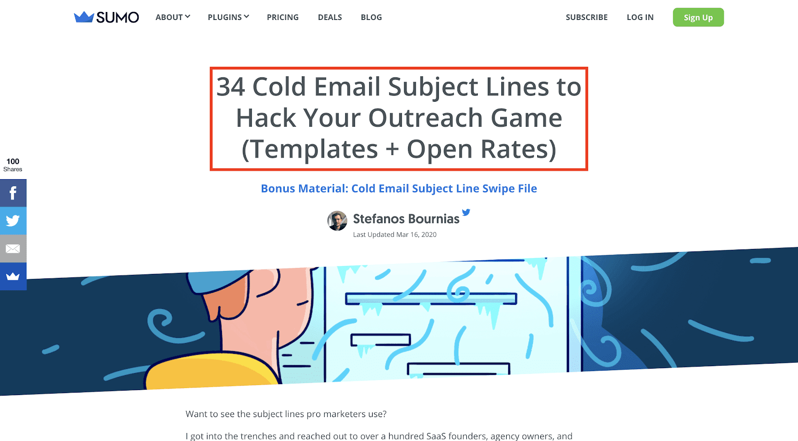 Cold Email Subject Line Expert Roundup