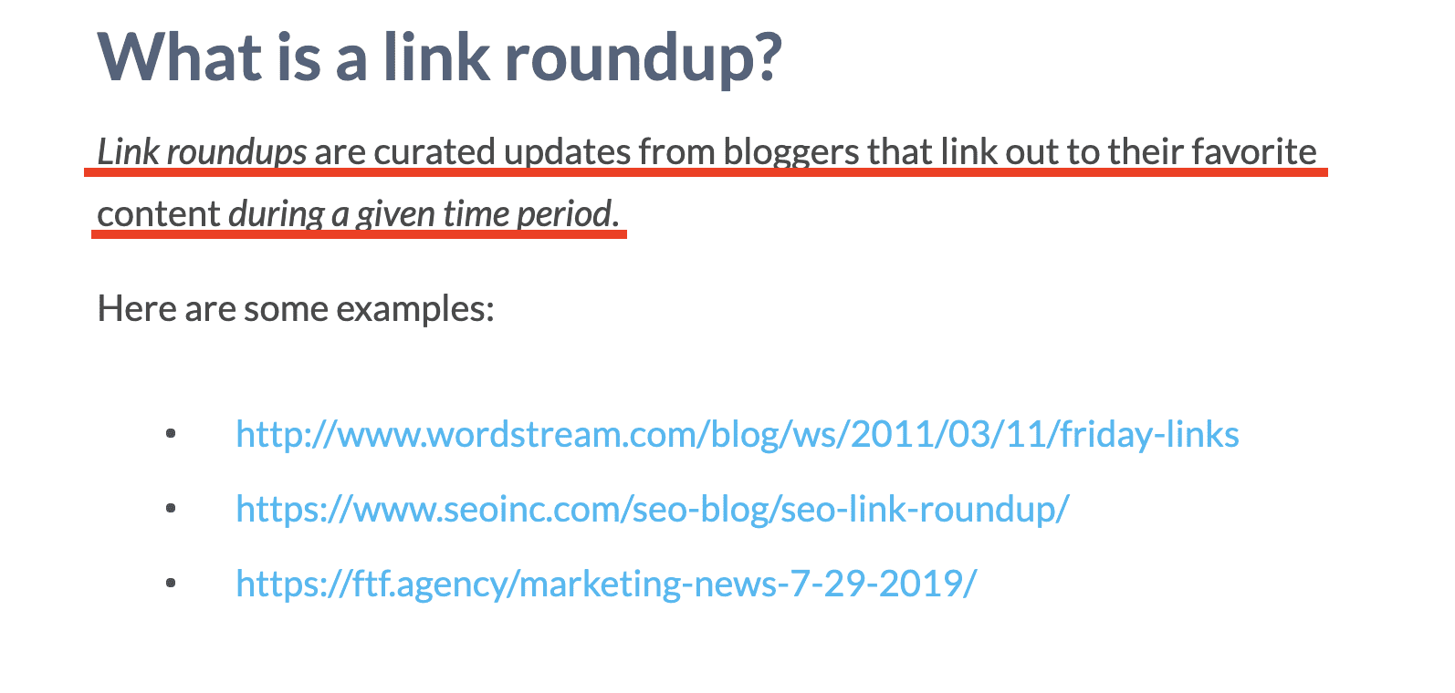 What is a Link Roundup on Webris Blog