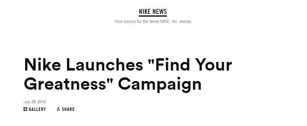 find your greatness campaign Nike 1